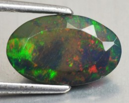 1.43 Cts Smoked Multi Color Play Ethiopian Black Opal