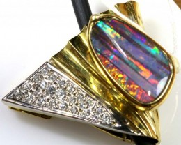 90.15 CTS QUALITY  BOULDER OPAL GOLD PENDANT INV-GC