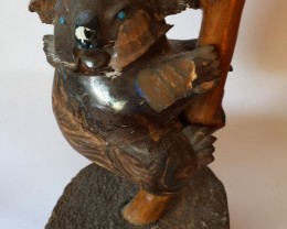 Queensland Boulder Opal Koala Carving