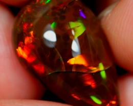 9.87Ct Neon Multi-color Ethiopian Welo Crystal Opal