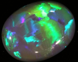 4.52 CTS SOLID SEMI  BLACK OPAL LIGHTNING RIDGE [SB8]