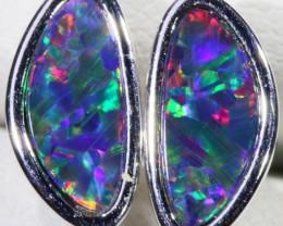 Modern design Gem Opal Doublet Earring CF 808