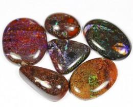 116Ct / 6Pcs Australian Andamooka Matrix Opal Parcel Lot