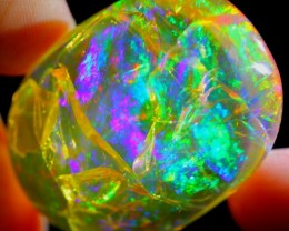 57.72Ct ContraLuz Fire Flash Natural Polished Ethiopian Welo Crystal Opal