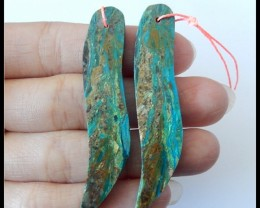 49.5Ct Natural Peruvian Opal Gemstone Pair