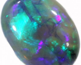 1.30 CTS BLACK CRYSTAL OPAL FROM LIGHTNING RIDGE [BC25]