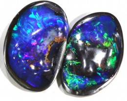 29.7 CTS 2 PC QUALITY  BOULDER OPAL POLISHED STONE INV-537 GC