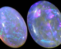 4.65 CTS PAIR CRYSTAL OPAL FROM LIGHTNING RIDGE [SC63]