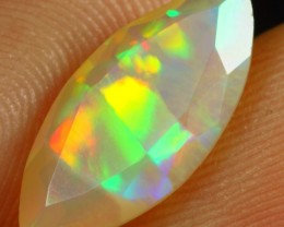 2.10cts Wonderful Marquise Cut Ethiopian Faceted Solid Opal