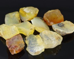 77cts Rough Fire Opal Lot 10 PCS from Madagascar