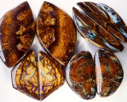 243.90 CTS BOULDER OPAL PAIR PARCEL -WELL POLISHED [MSS 567]