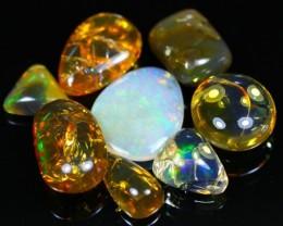 145Ct / 8Pcs Ethiopian Welo Polished Specimen Opal Lot