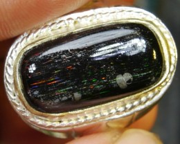 45.90 CRT (WITH RING) INDONESIAN WOOD FOSSIL POLISHED OPAL #