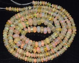 27.45 Ct Natural Ethiopian Welo Opal Beads Play Of Color