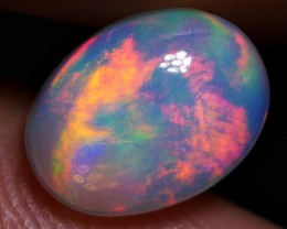 GORGEOUS BRILLIANT SMOOTH RED FIRE PLAY COLOR WELO OPAL 1.10 CRT