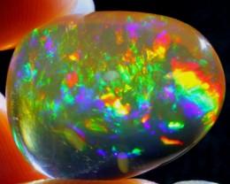 19.99Ct Rainbow ContraLuz Fire Ethiopian Welo Specimen Crystal Opal