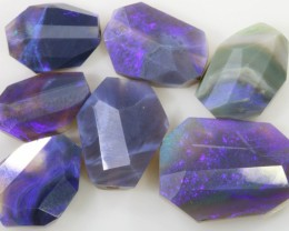 27 CTS DRILLED FACETED BLACK OPAL PARCEL  [BF48]