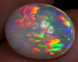 Brilliant Peacock Feather Welo Opal