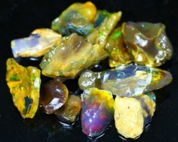166Ct / 12Pcs Ethiopian Welo Specimen Rough Opal Parcel Lot