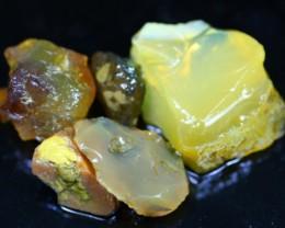 255Ct / 5Pcs Ethiopian Welo Specimen Rough Opal Parcel Lot