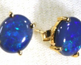 8.45 CTS BLACK OPAL GOLD EARRINGS OF-1782