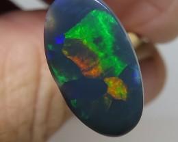3.64Ct Lightning Ridge Black Opal stone