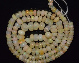 54.85 Ct Natural Ethiopian Welo Opal Beads Play Of Color