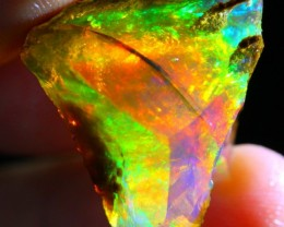 31Ct Rainbow ContraLuz Ethiopian Welo Rough Specimen Rough Opal