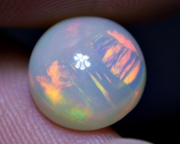 3.10 CRT GORGEOUS ROUND BROAD STRIPE FIRE WELO OPAL