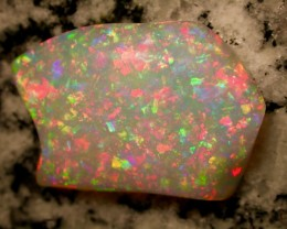 16.61ct DOUBLE SIDED MULTI PATERN BRILIANT COLORS BRAZILIAN OPAL