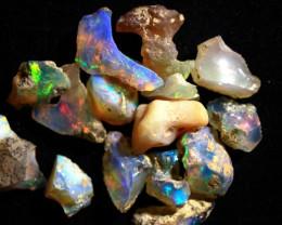 Parcel Rough  Wello Opal 15 stones   ~  cts.45.30    RC50    Gem Grade -