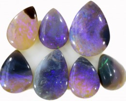 13 CTS TEAR DROP SHAPED BLACK OPAL PARCEL DEAL [BO35]