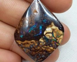 40.75 CT VIEW AMAZING DOUBLE SIDED KOROIT BOULDER OPAL SS0763