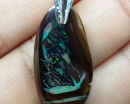 Faceted Boulder Opal Pendants