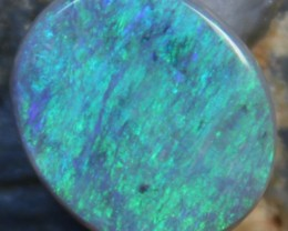 6.05 CTS BLACK OPAL ELECTRIC GREEN CUT STONE D1095