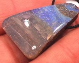 VERY NICE BLUES 'FULL FACED' CLEAN BOULDER OPAL PENDANT