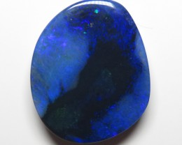 30.40Ct Lightning Ridge Black Opal stone