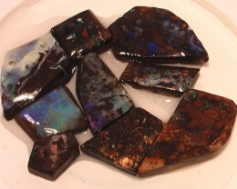 345ct Boulder Opal Rough 9 Pieces beginner to advanced fun