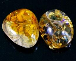 138Ct / 2Pcs Ethiopian Welo Polished Specimen Opal