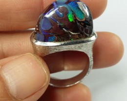 59.10 CT VIEW KOROIT BOULDER OPAL RING WITH SILVER  SS0875
