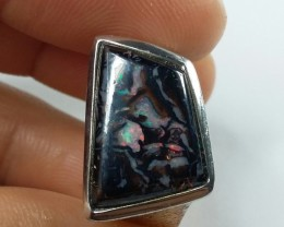38.00CT VIEW KOROIT BOULDER OPAL RING WITH SILVER  SS0878