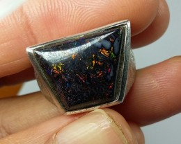 46.65 CT VIEW KOROIT BOULDER OPAL RING WITH SILVER  SS0879