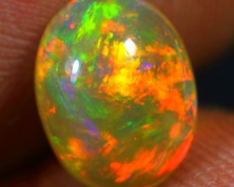 1.90cts SUPERB STRONG MULTI FIRE Natural Untreated Ethiopian Welo Opal