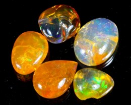 38Ct / 5Pcs Ethiopian Welo Polished Specimen Opal
