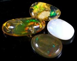91Ct / 4Pcs Ethiopian Welo Polished Specimen Opal