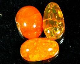 34Ct / 3Pcs Ethiopian Welo Polished Specimen Opal