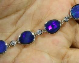 6.00 CTS Doublet Opal Bracelet , top design sterling silver  SB1140