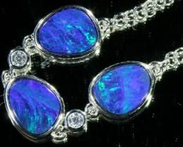 6.00 CTS Doublet Opal Bracelet , top design sterling silver  SB1142