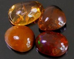 97Ct / 4Pcs Ethiopian Welo Polished Specimen Opal