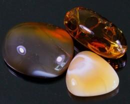 127Ct / 3Pcs Ethiopian Welo Polished Specimen Opal